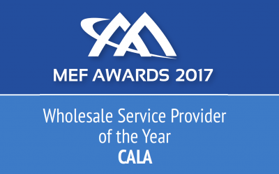 UFINET receives MEF Award 2017 – Wholesale Service Provider of the Year, CALA