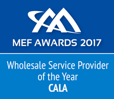 MEF award Wholesale Service Provider of the Year