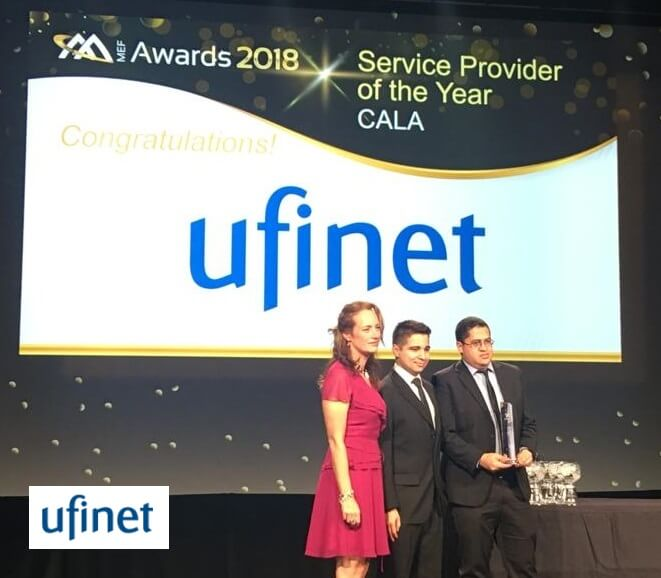 "UFINET receives MEF Award ""Best Service Provider of the year -CALA"""