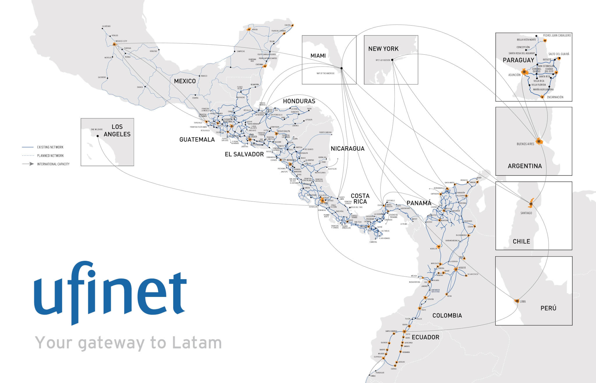 Our fiber optic network - Ufinet on