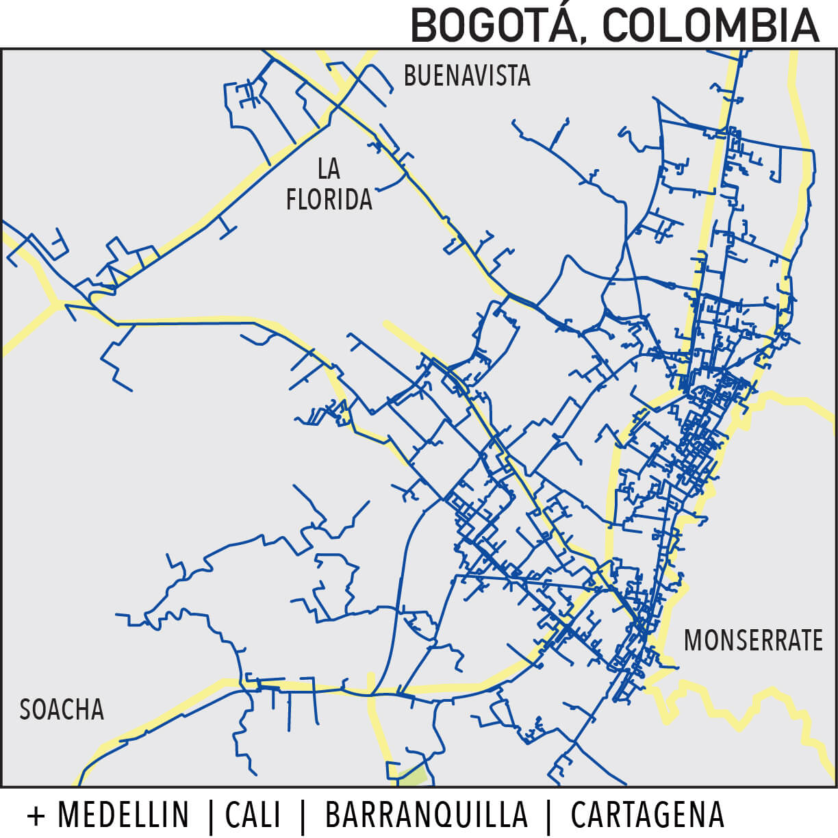 Capillarity Colombia map Ufinet