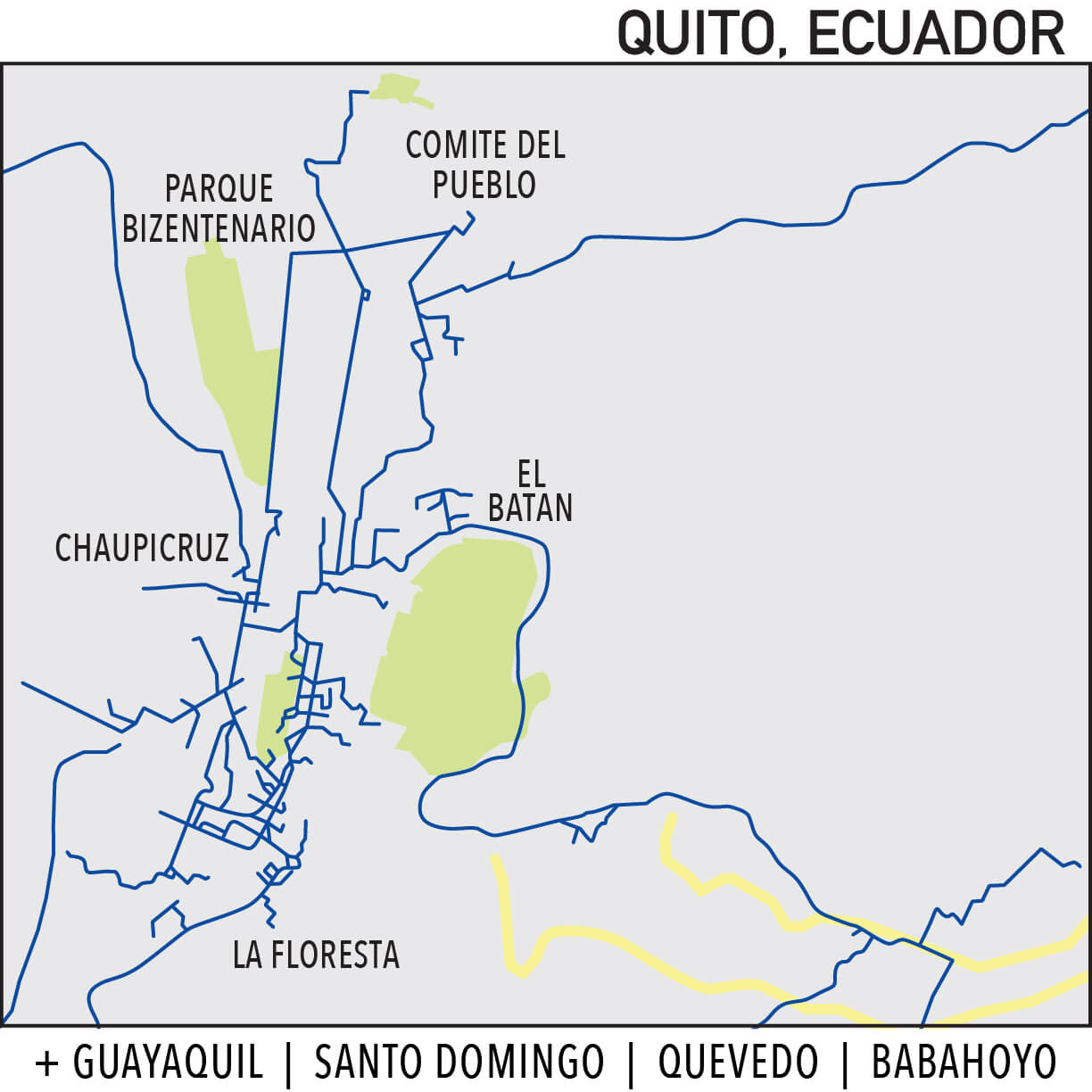 Capillarity Ecuador map Ufinet