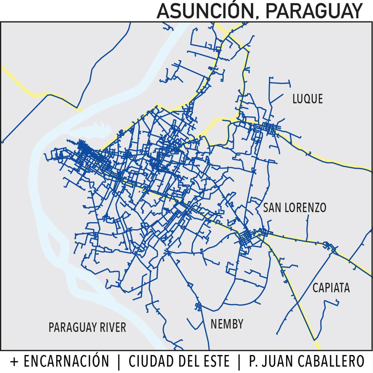 Capillarity Paraguay map Ufinet