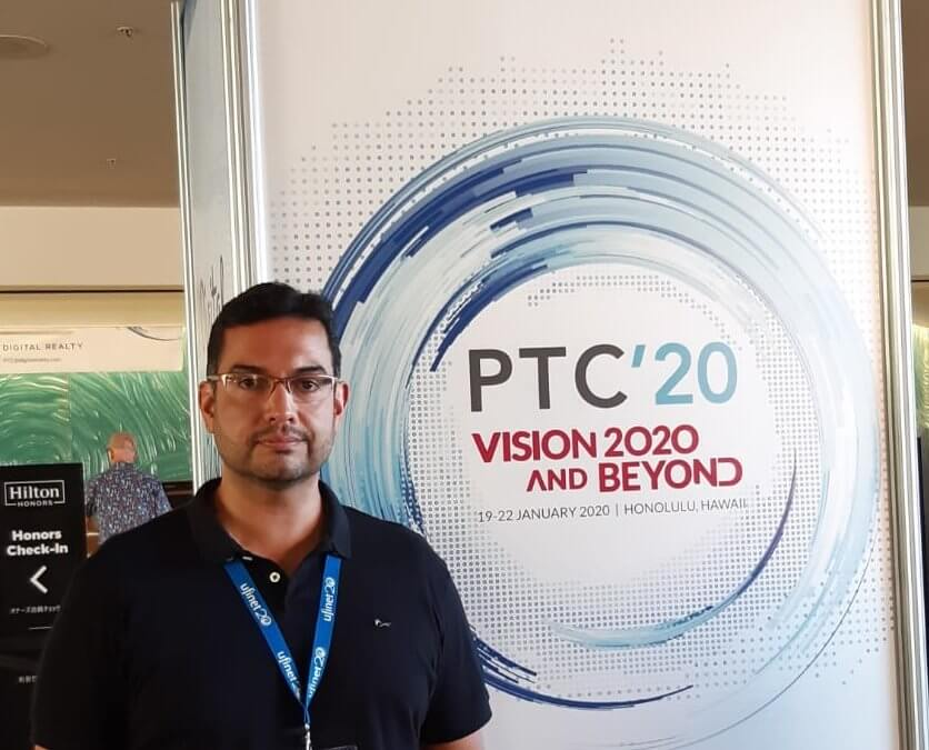 A man at the PTC vision and beyond 2020