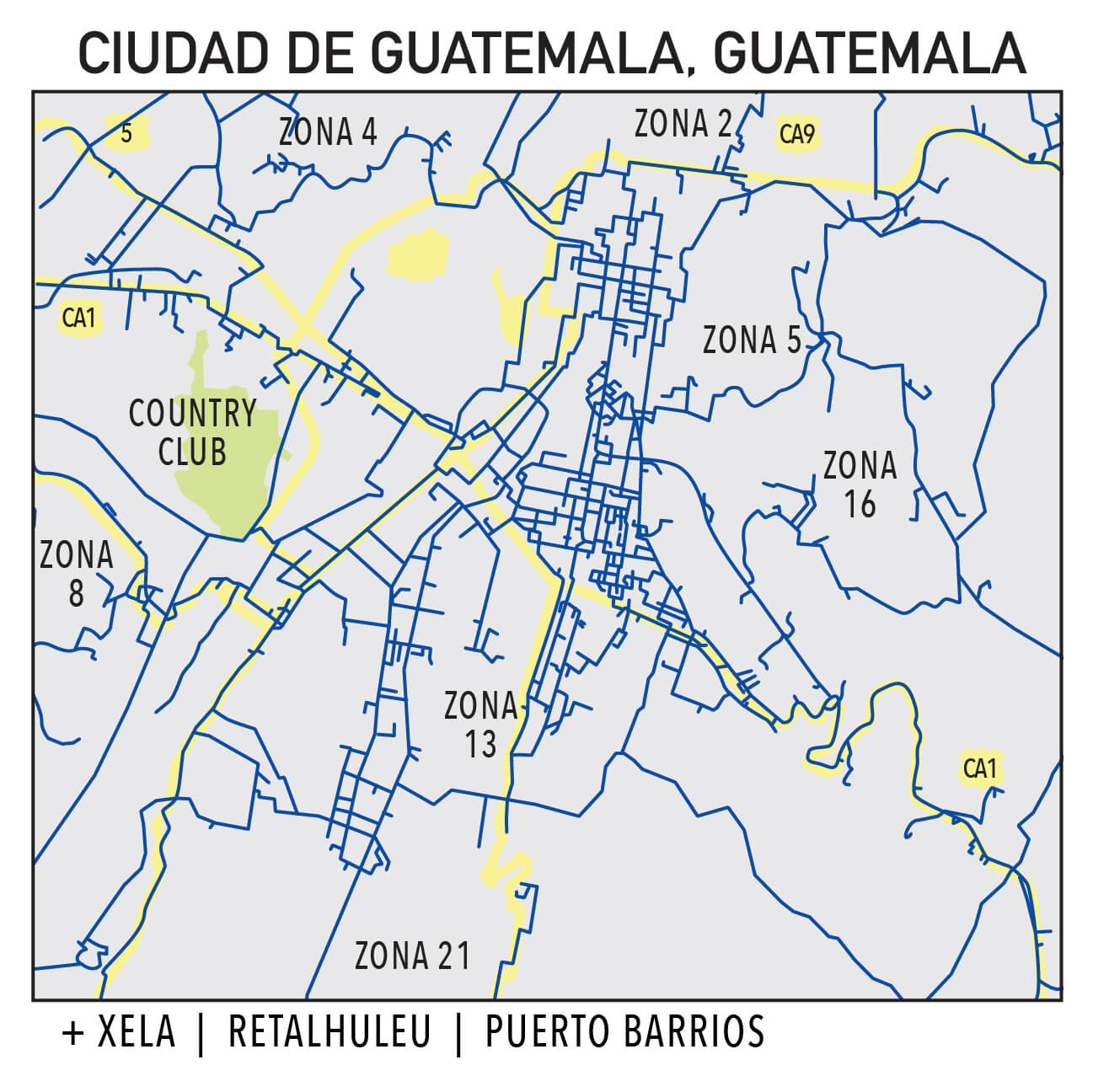 Capillarity Guatemala map Ufinet