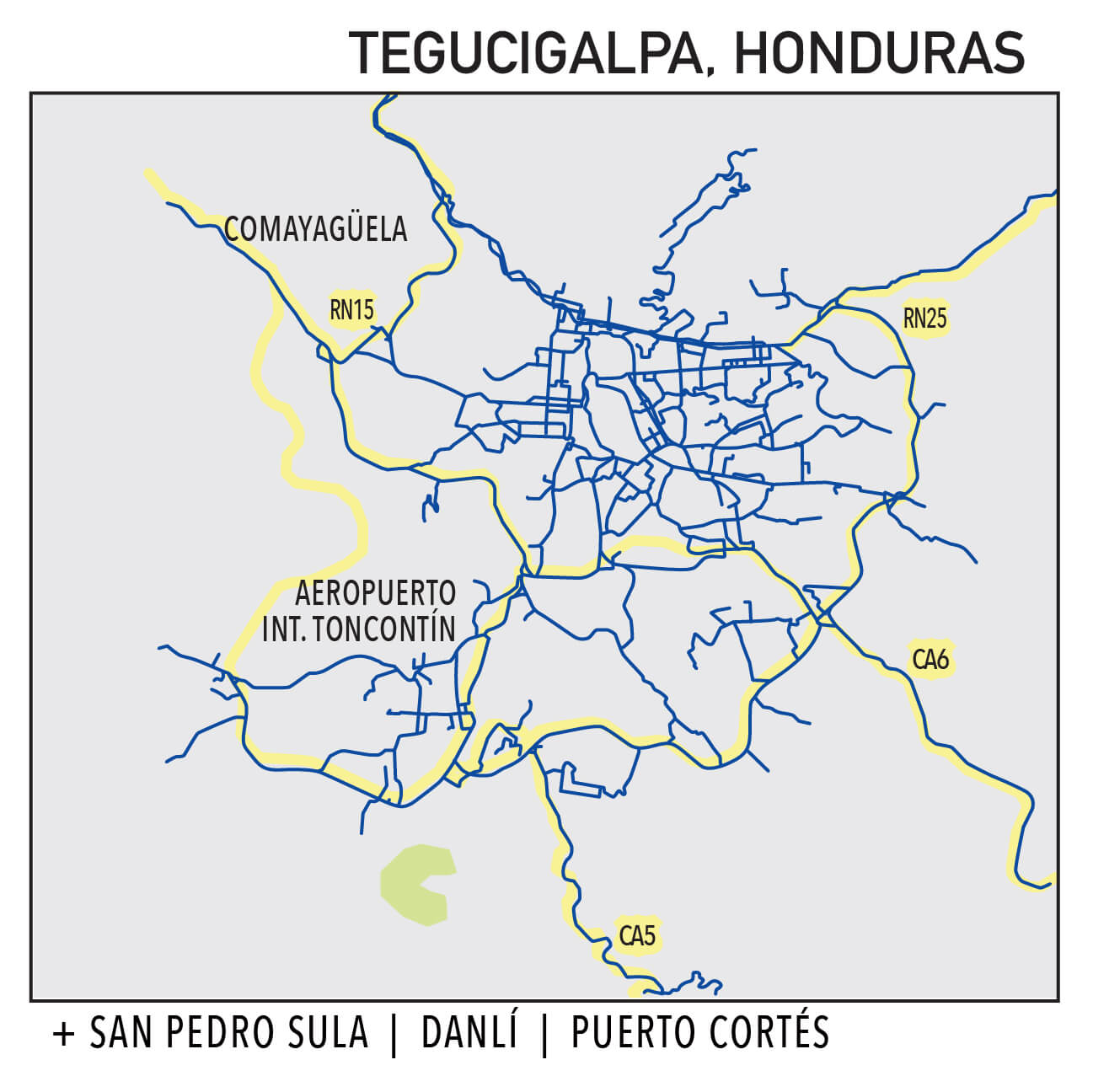 Capillarity Honduras map Ufinet