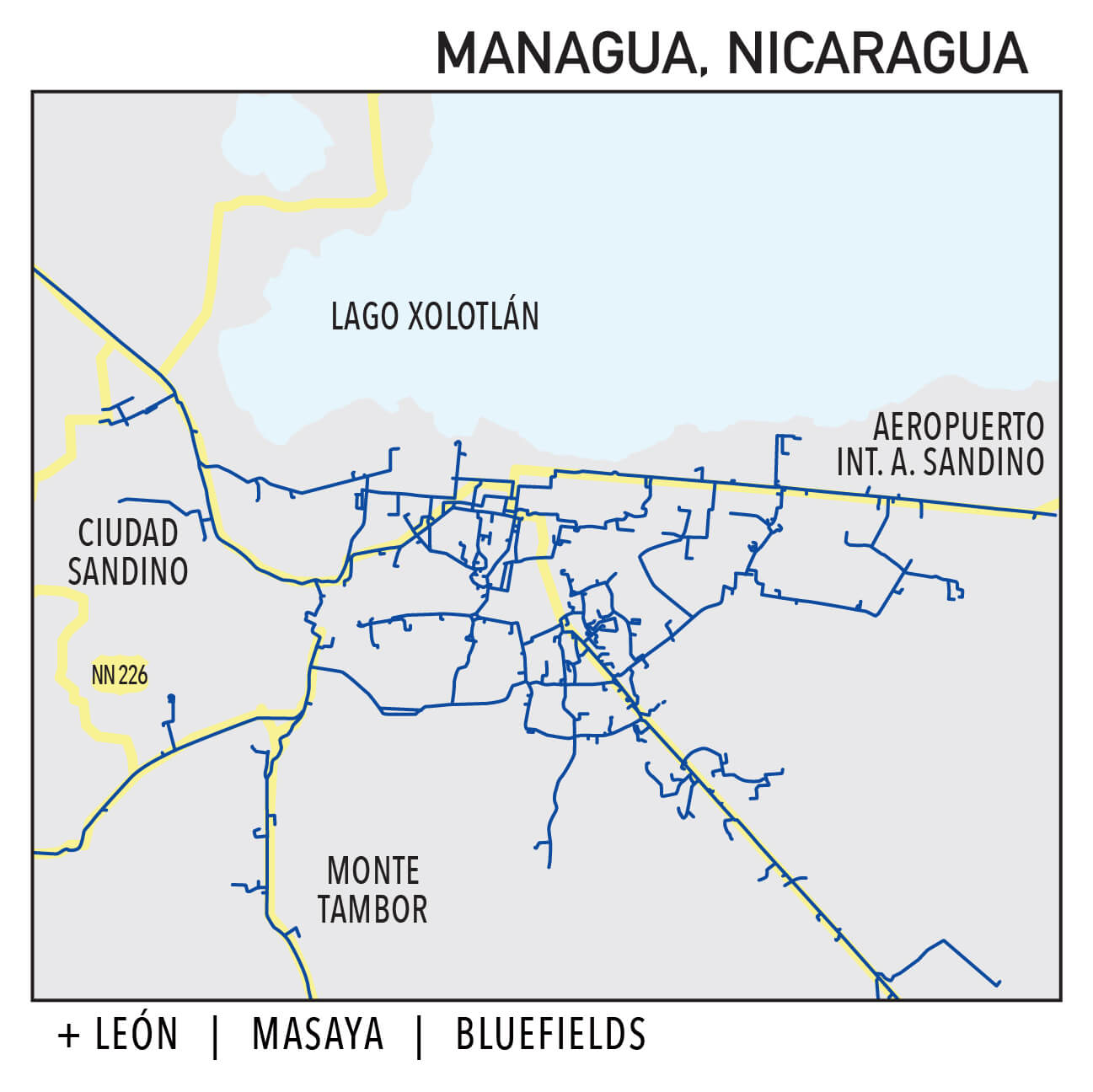 Capillarity Nicaragua map Ufinet