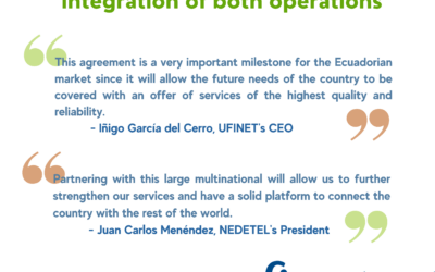 NEDETEL and UFINET consolidate their position in Ecuador